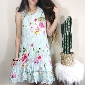 NWOT Back In The Saddle Floral Tiered Dress